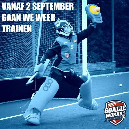 Trainingen beginnen vanaf 2 september